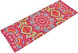 Килимок (мат) для йоги та фітнесу   PVC+замша 173*61*3 мм рожевий ,чехол у подарунок, фото 2