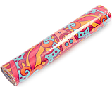 Килимок (мат) для йоги та фітнесу   PVC+замша 173*61*3 мм рожевий ,чехол у подарунок, фото 6