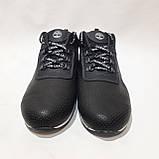 Летние мужские кроссовки (Больших размеров) перфорированная кожа черные 46,47,48,49,50, фото 2