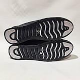 Летние мужские кроссовки (Больших размеров) перфорированная кожа черные 46,47,48,49,50, фото 8