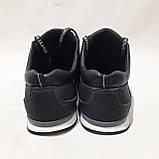 Летние мужские кроссовки (Больших размеров) перфорированная кожа черные 46,47,48,49,50, фото 7