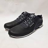 Летние мужские кроссовки (Больших размеров) перфорированная кожа черные 46,47,48,49,50, фото 3