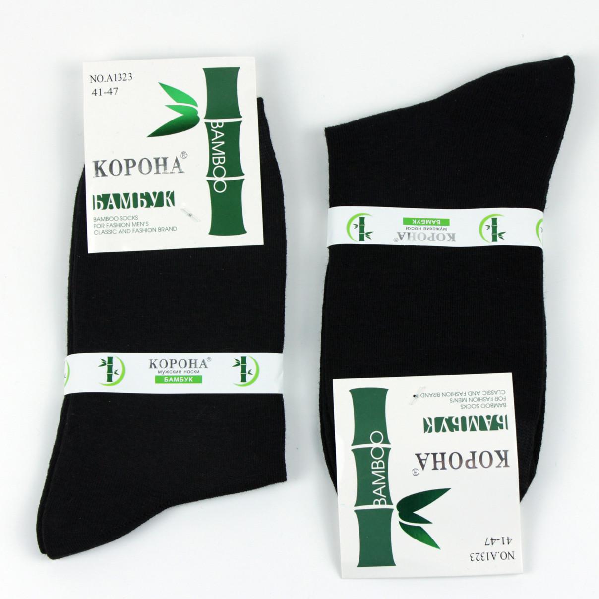 Носки мужские черные повседневные  без принтов бамбук р.41-47