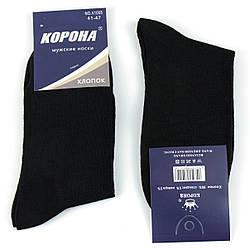 Шкарпетки чоловічі чорні повсякденні без принтів р. 41-47