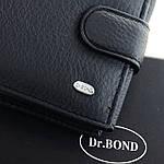 Гаманець портмоне чоловічий шкіряний DR. BOND чорний (05-126), фото 4