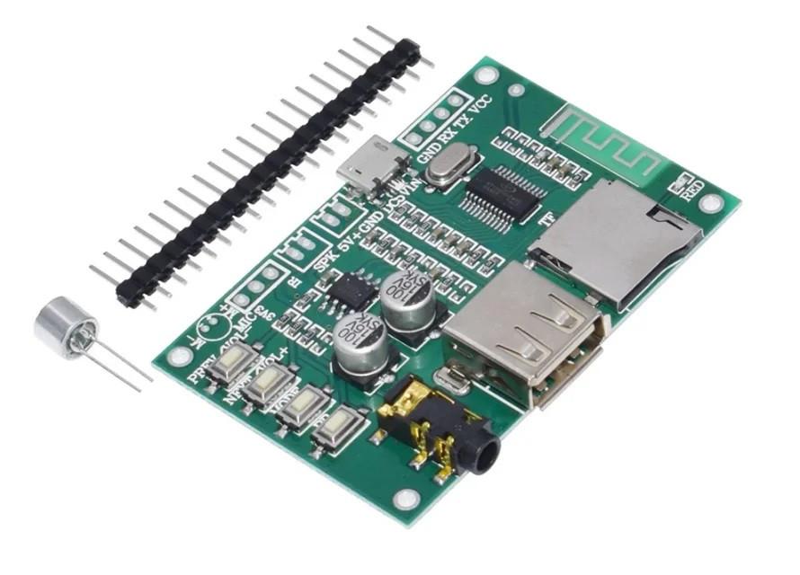 Декодер с воспроизведением MP3/WAV/FLAC/APE Bluetooth 5.0 поддержка флешки и micro SD карт, плата