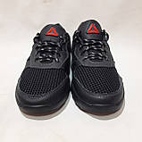 46 р. Летние мужские кроссовки (Больших размеров) сетка со вставками кожи черные Последняя пара, фото 3