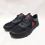 46 р. Летние мужские кроссовки (Больших размеров) сетка со вставками кожи черные Последняя пара, фото 4