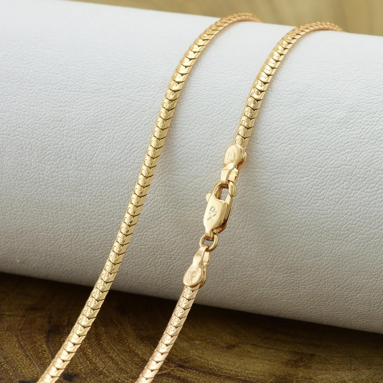 Цепочка Xuping позолоченная красивое плетение ширина 3 мм