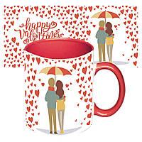 Чашка с принтом 64106 Романтика (красная), фото 1