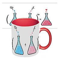 Чашка з принтом 64107 Ти + Я (червона), фото 1