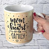 Кружка Гігант Мама серце сім'ї