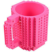 Кружка Лего конструктор (малинова)