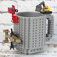 Кружка Лего конструктор (сіра)