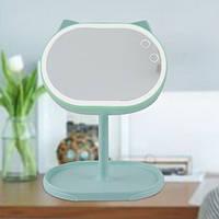 Led mirror Велике дзеркало з підсвічуванням для макіяжу FOX Бірюзовий