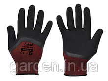 Рукавички захисні FLASH GRIP RED FULL латекс, розмір 10, блістер, RWFGRDF10