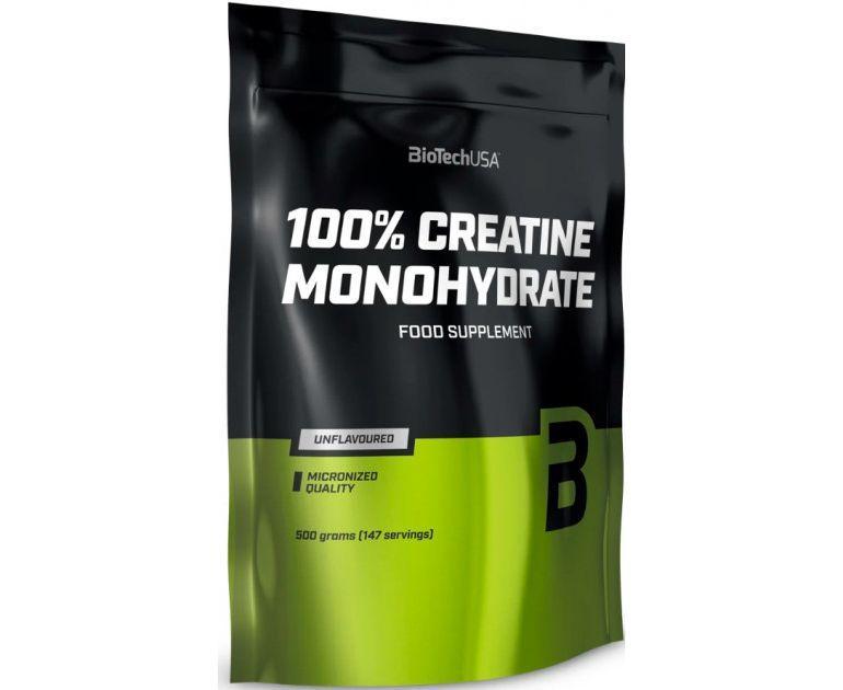 Креатин Biotech 100% Creatine Monohydrate 500g пакет