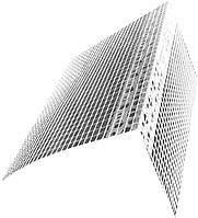 Профиль ПВХ угловой с сеткой 8х12 см (Польша), фото 1