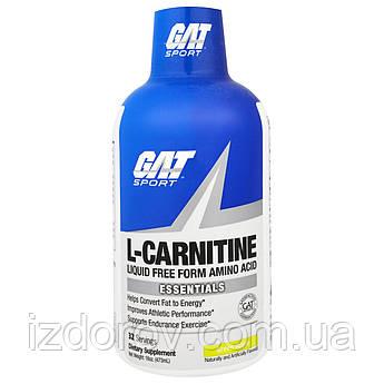 GAT, L-карнітин, амінокислоти у вільній формі, зі смаком зеленого яблука, 473 мл