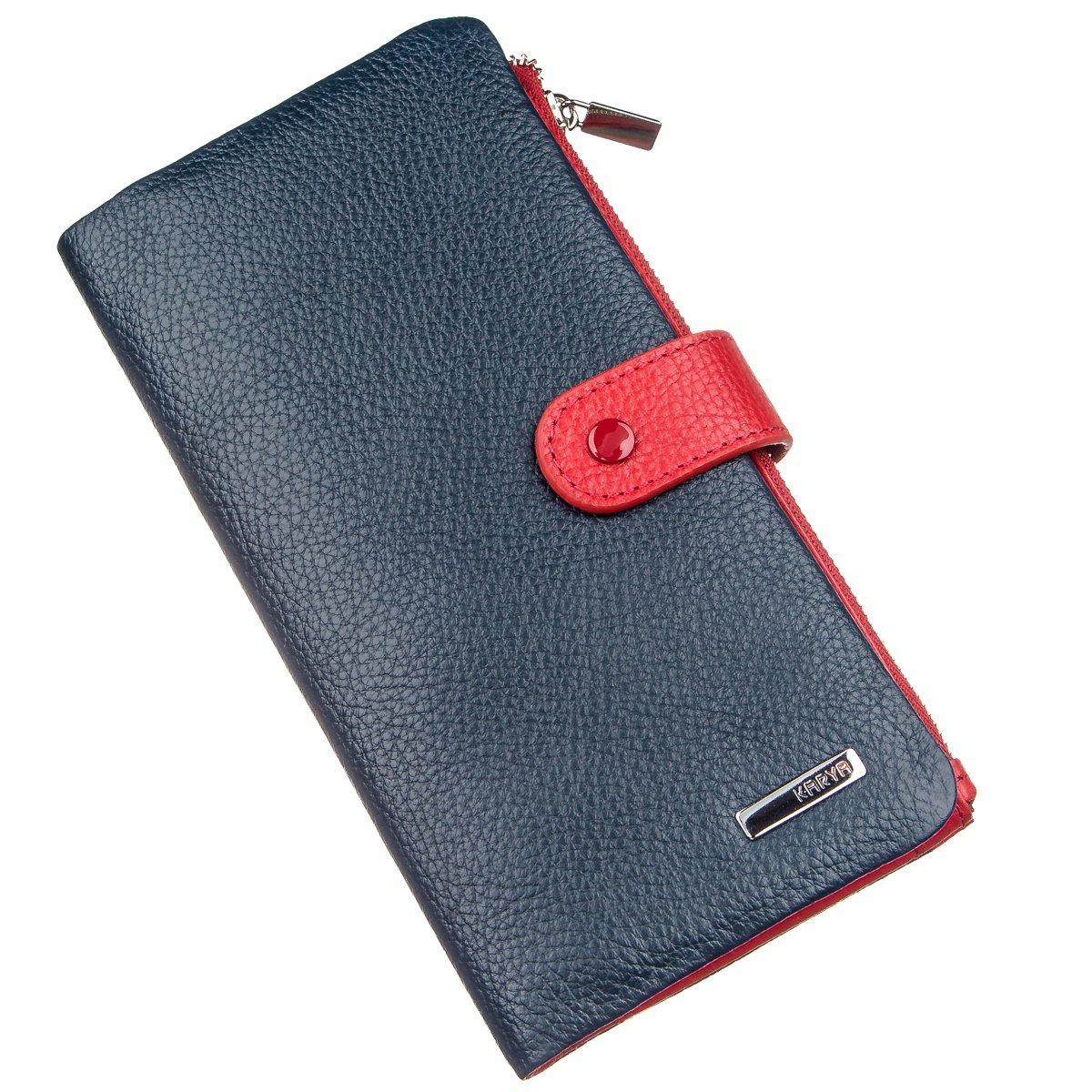Гаманець вертикальний для мобільного телефону KARYA 17406 Синій