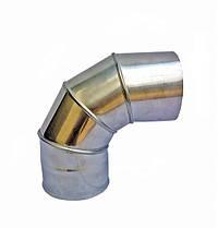 Одностінні Коліно 87° Ø120 мм із нержавіючої сталі