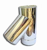 Утеплений сендвіч Трійник 45° Ø120/220 мм із нержавіючої сталі