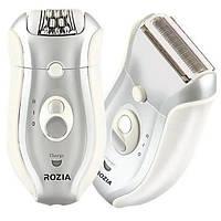 Женский эпилятор бритва, триммер Rozia HB-6005( 2 в 1 ) аккумуляторный
