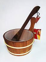 Набір дерево (зграя 4л + черпак 40см) термоосина для лазні та сауни