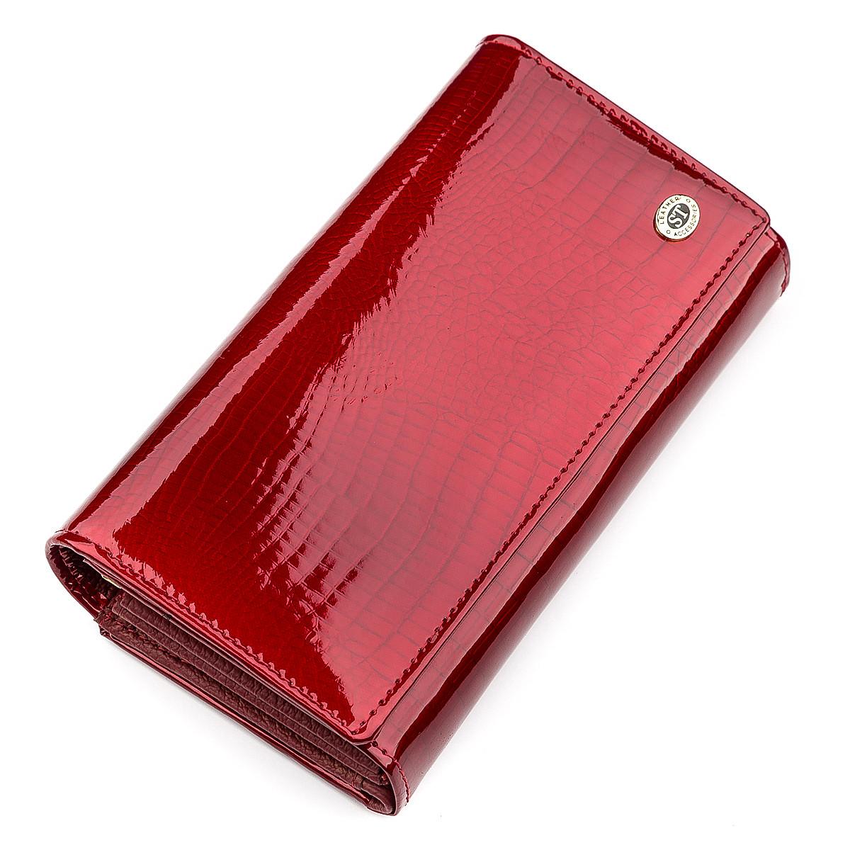 Кошелек женский ST Leather 18430 (S9001A) очень красивый Красный