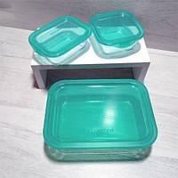 Стеклянные контейнеры Luminarc Keep'n'Box набор 3 шт для хранения продуктов 1970+380+380 мл, фото 1