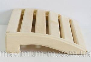 Підголовник 345/250 мм липа для лазні та сауни