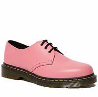 Женские туфли кожаные оксфорды весенние-летние розовые