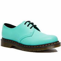 Мужские туфли кожаные оксфорды весенние-летние зеленого-мятного цвета