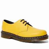 Мужские туфли кожаные оксфорды весенние-летние желтые