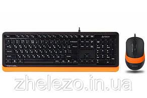 Комплект (клавіатура, миша) A4Tech F1010 Black/Orange USB