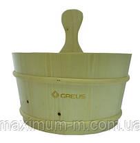 Зграя Greus сосна 4 л з пластиковою вставкою для лазні та сауни