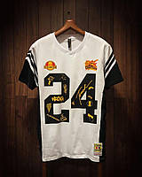 Футболка белая 24 , мужская футболка черно белая