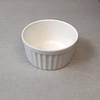 """Соусник круглий ребристий фарфоровий 3,5"""" HLS Extra white 150 мл (W0253)"""