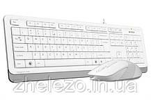 Комплект (клавиатура, мышь) A4Tech F1010 White USB, фото 2