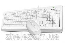 Комплект (клавиатура, мышь) A4Tech F1010 White USB, фото 3