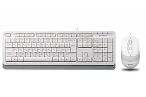 Комплект (клавіатура, миша) A4Tech F1010 White USB