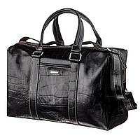 Деловая мужская дорожная сумка флотар KARYA 17386 Черная