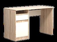 Комп'ютерний стіл Інтарсіо Jusk A 1200х786 мм Дуб сонома + мигдаль (JUSK_A)