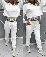 Трендовий спортивний костюм жіночий з двухнити з майкою в комплекті (Норма), фото 3