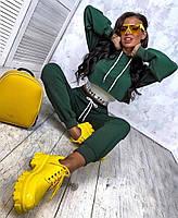 Трендовий спортивний костюм жіночий з двухнити з майкою в комплекті (Норма), фото 7
