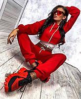 Трендовий спортивний костюм жіночий з двухнити з майкою в комплекті (Норма), фото 8