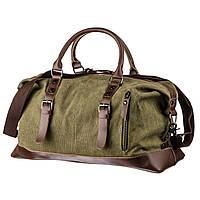 Дорожная сумка текстильная Vintage 20171 Зеленая