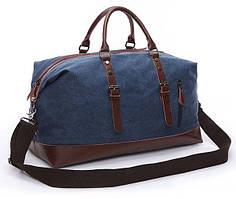 Дорожная сумка текстильная большая Vintage 20083 Синяя