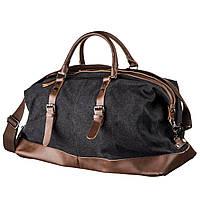 Дорожная сумка текстильная большая Vintage 20166 Черная