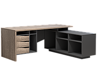 Комп'ютерний стіл Інтарсіо Connect 1 1900х786х1638 мм Дуб сонома трюфель + антрацит (CONNECT1_R)